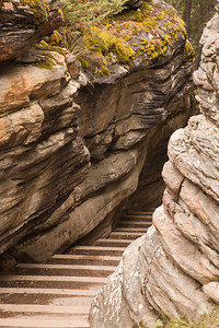 steps in the Athabasca canyon