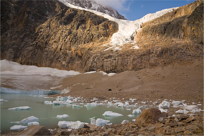 Angel Glacier above Cavell Pond