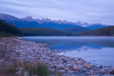 Patricia Lake with the Trident Range - Jasper