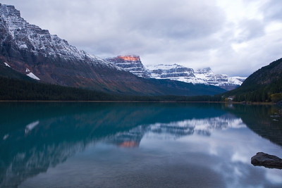 Waterfowl lake at sunrise