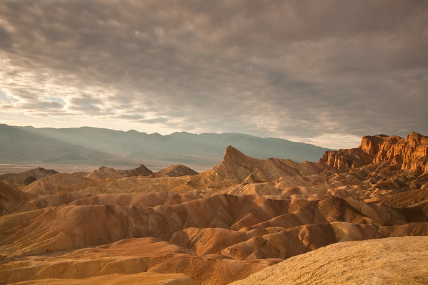 Zabriskie Point in the late afternoon