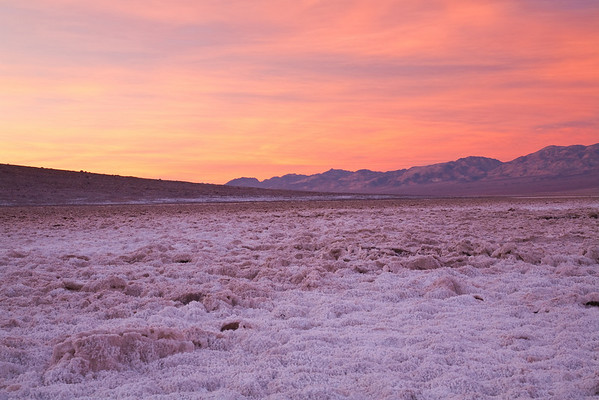 A few minutes later - Badwater Basin Sunrise<br /> - the lowest point (at 240 feet below sea level) in the US