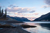 Lake Abraham sunset