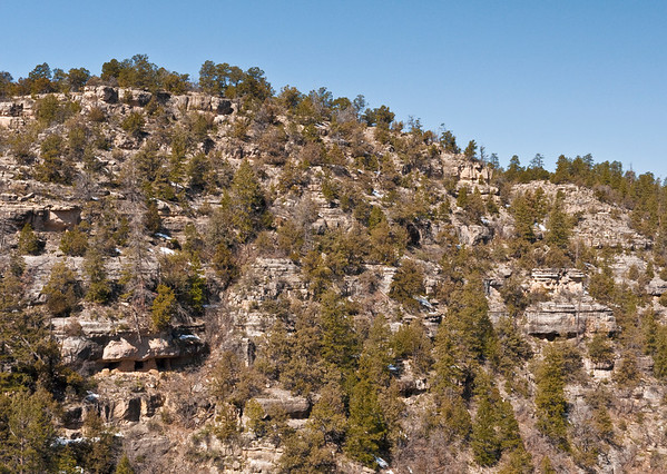 Walnut Canyon - cliff dwellings dated back in the 1100s