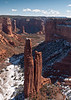 Spider Rock - an 800-ft sandstone spire<br /> Canyon De Chelly
