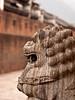Lion Sculpture - side profile