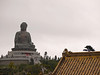 View of the Buddha from the monastery