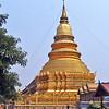 a golden stupa; Thailand