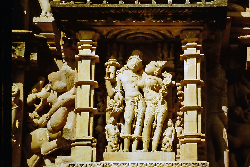 Shiva and Parvati, from a panel at the Kandariya Mahadeva