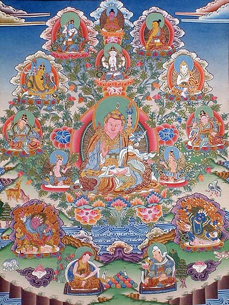 a beautifully done modern thangka