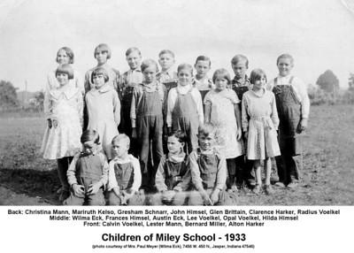 Miley School Students of 1933