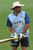 12/02/08 - International Cricket at Manuka Oval, India v Sri Lanka. Sachin Tendulkar warming up.