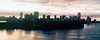 1983 June - Dusk Over Brisbane 1 & 2 Merged<br /> (Taken from Kangaroo Point)