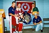 1997 Jun - Queensland Shield cricketers in Bundaberg. Showing off the Sheffield Shield at Walkervale Public School