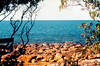1984 Sep - Coral Sea View.<br /> This was the view from my camping spot