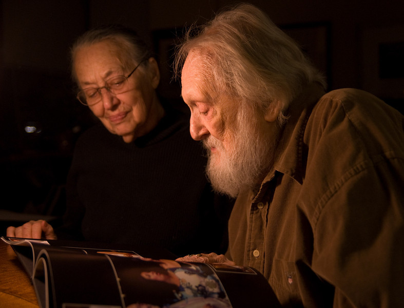 Irv & Mitz, 2007. Photo by B. Docktor. They were looking at my first wedding portfolio book. You can see my sister-in-law Maggie on the page.