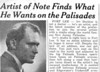 Article appeared in the Palisadian newspaper, 1957.
