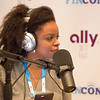 Podcasting at the Ally Bank booth at FinCon18