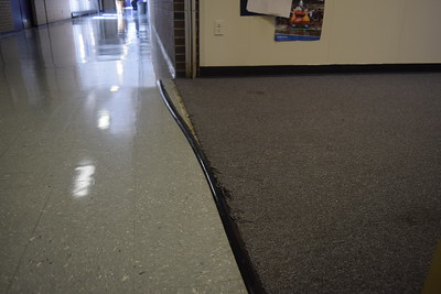 Much of the carpet at Pontiac High School hasn't been upgraded in over 20 years since the district's last sinking fund was passed, according to spokeswoman RoNeisha Mullen.