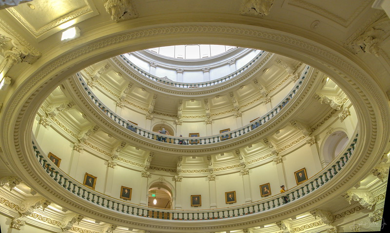 Inside the Rotunda of the Texas State Capitol