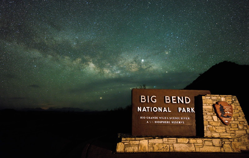 Milky Way over the entrance to Big Bend National Park
