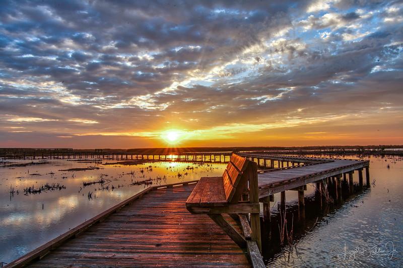 Sunrise on the Boardwalk at Anahuac National Wildlife Refuge