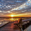 Sunrise on the Boardwalk at Anahuac National Wildlife Refuge