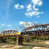 Union Pacific's Big Boy #4014 over the Colorado River, Columbus, Texas