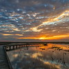 Sunrise on the Boardwalk, Shoveler's Pond, Anahuac National Wildlife Refuge