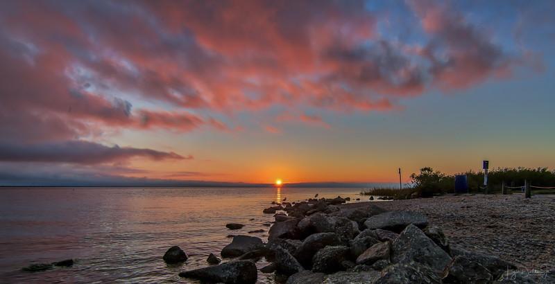 Sunset at Anahauc National Wildlife Refuge