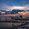 Sunrise at Miramar Beach, La Porte, Texas