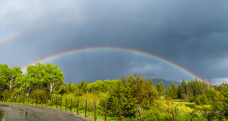 Double Rainbow, Grand Teton National Park, Jackson Hole, Wyoming