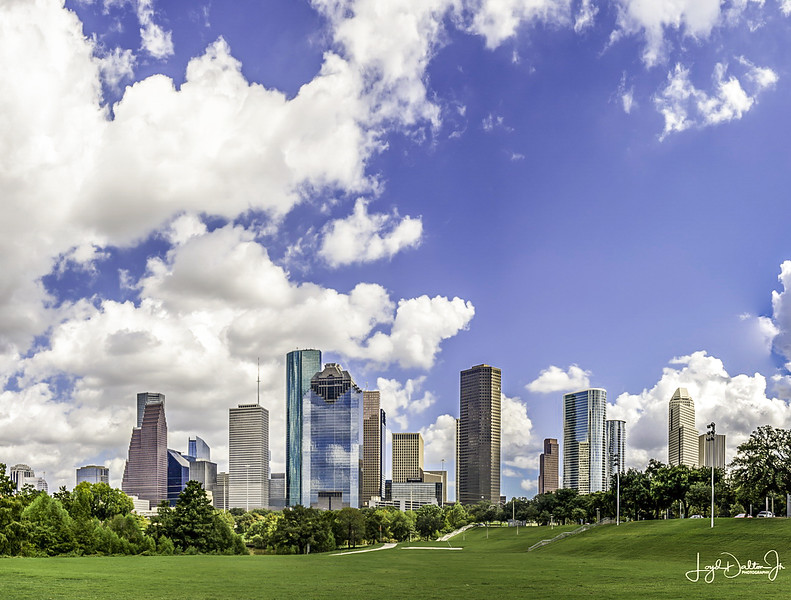 Houston Skyline @ Eleanor Tinsley Park