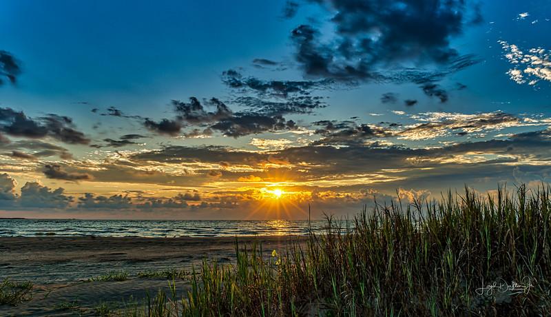 Sunrise - San Luis Pass, Galveston Island, Texas