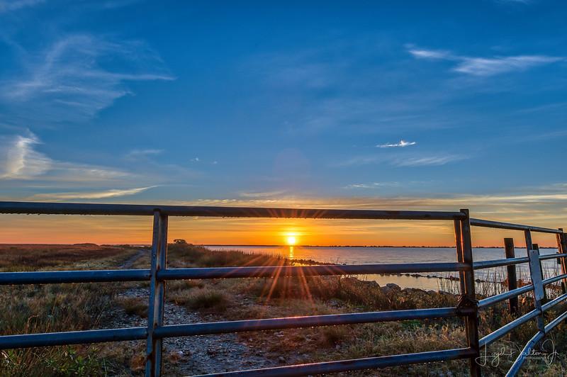 Sunrise on East Bay at Anahuac National Wildlife Refuge