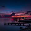 Pre-sunrise at Miramar Beach, La Porte, Texas
