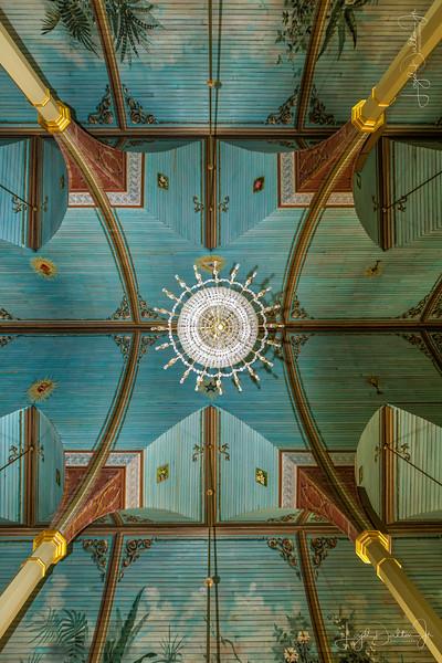 Ceiling of St Mary's Catholic Church, Praha, Texas