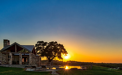Sunset over the Pool House
