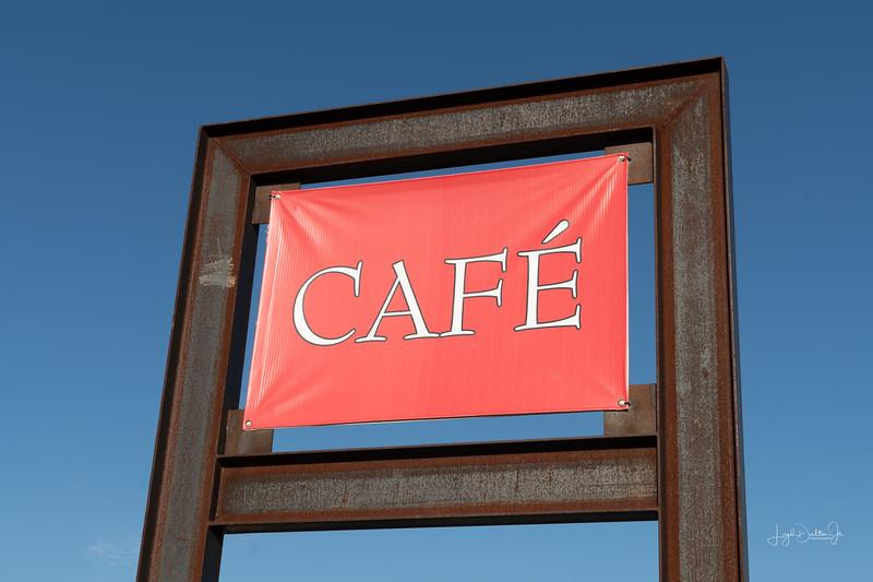 Sign of the Bun's N' Roses Cafe- Marfa, Texas