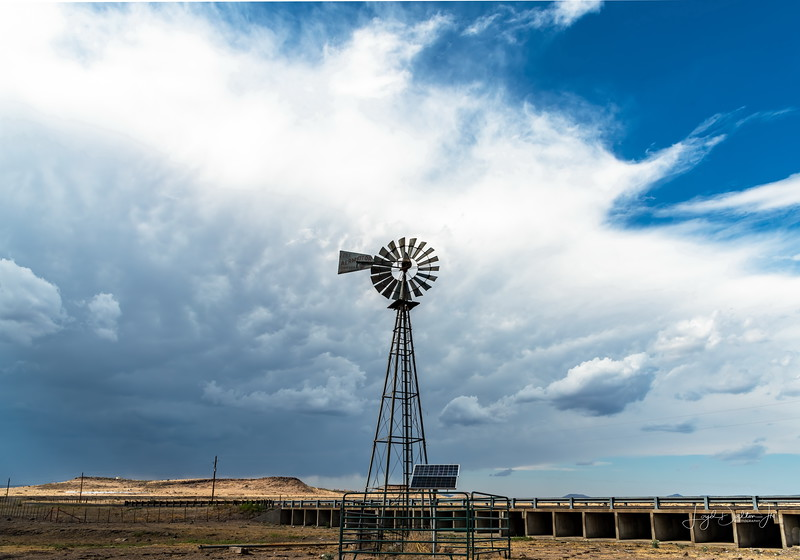 Windmill & the coming storm!