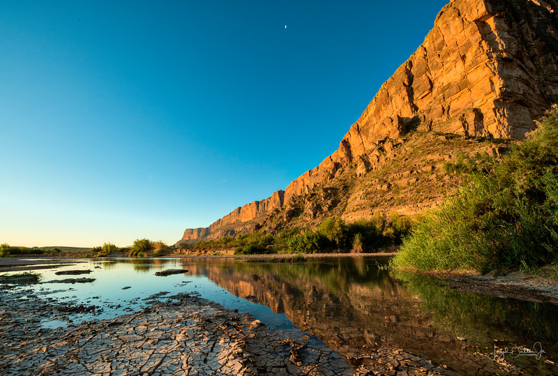 Mouth of the Santa Elena Canyon - Big Bend National Park