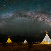 Milky Way over the Teepees