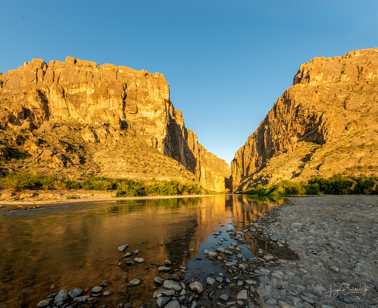 Sunrise at Santa Elena Canyon - Big Bend National Park