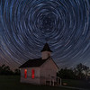 Star Trails over the old Church