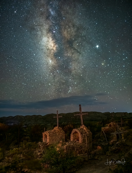 Milky Way over the Terlingua Cemetery