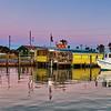 Fulton Harbor Marina before sunrise