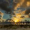 Sunrise at San Luis Pass, Galveston Island, Texas
