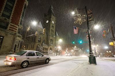 Main Street in downtown Butler on Dec. 1, 2020. Seb Foltz/butler eagle