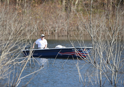 A fisherman heads out for an afternoon of fishing at Glade Run Tuesday, November 10, 2020. Harold Aughton/Butler Eagle.