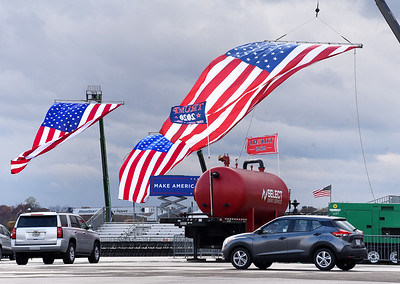 The Pittsburgh-Butler Regional Airport was a buzz in preparation for President Trump's visit Friday, Ocotober 30, 2020. Harold Aughton/Butler Eagle